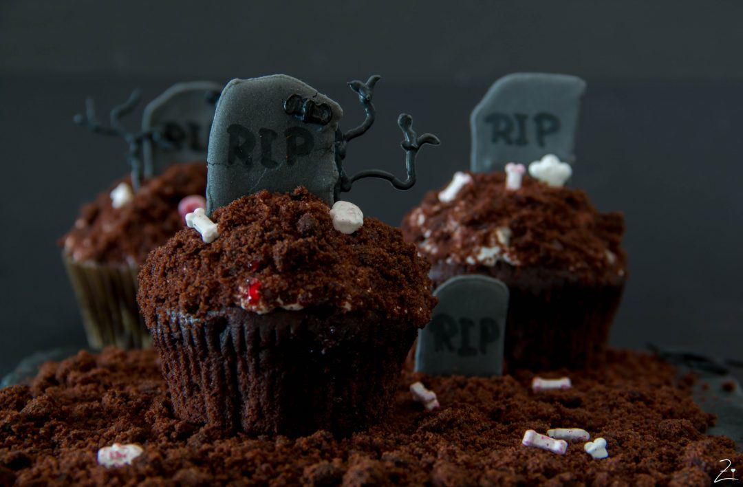 Gastbeitrag Gruselige Halloween Cupcakes Friedas Kitchen On My Mind