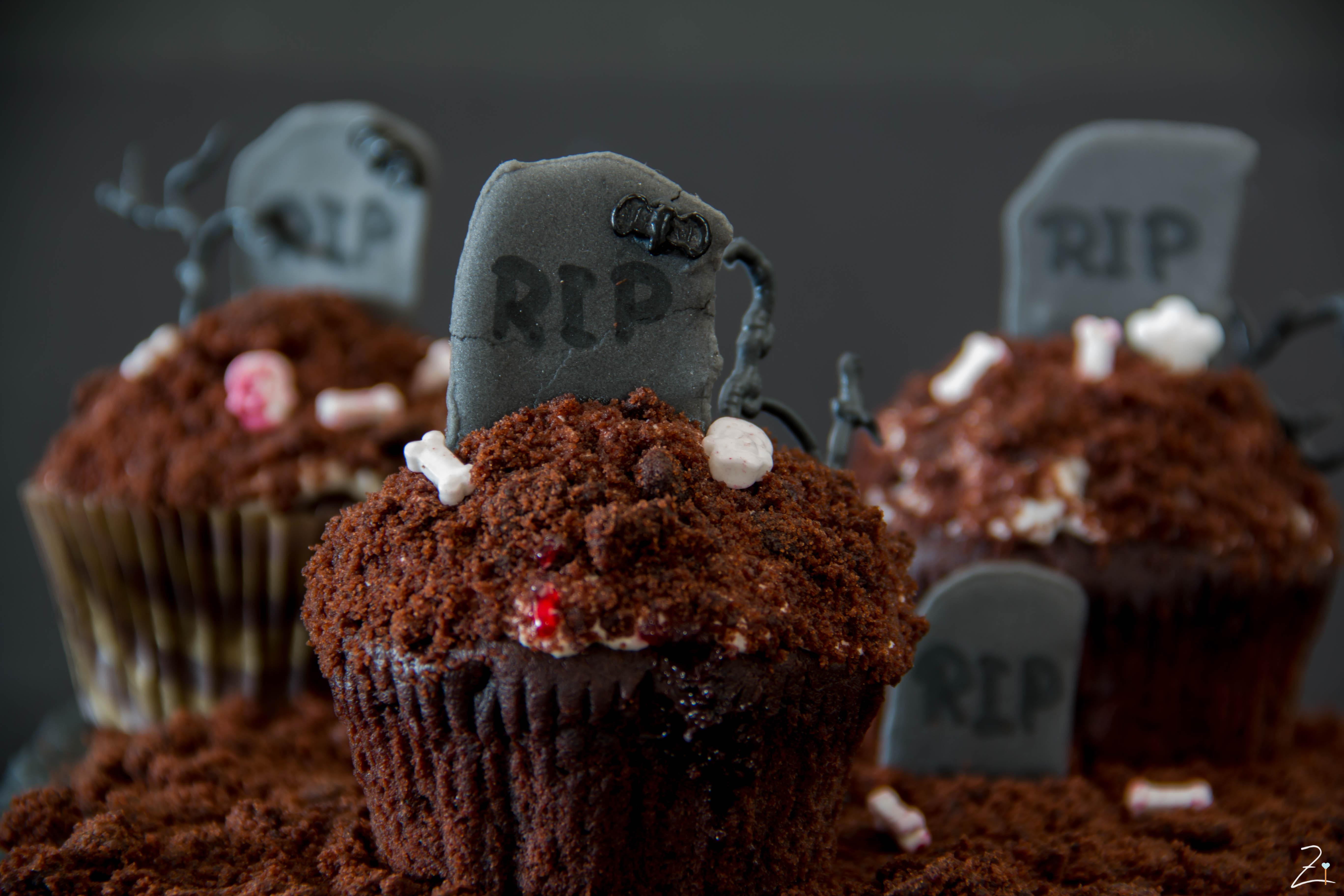 Gastbeitrag Gruselige Halloween Cupcakes Friedas Kitchen On My Mind